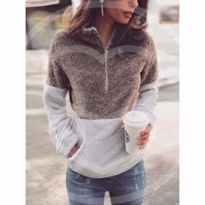 TRINH Softest Sherpa Pullover Sweater